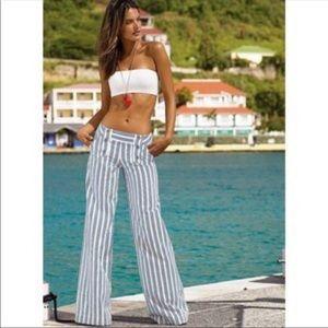 London Jeans Blue And White Sailor Pants Size 10